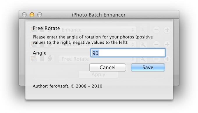 feroXsoft - iPhoto Batch Enhancer  For the Mac